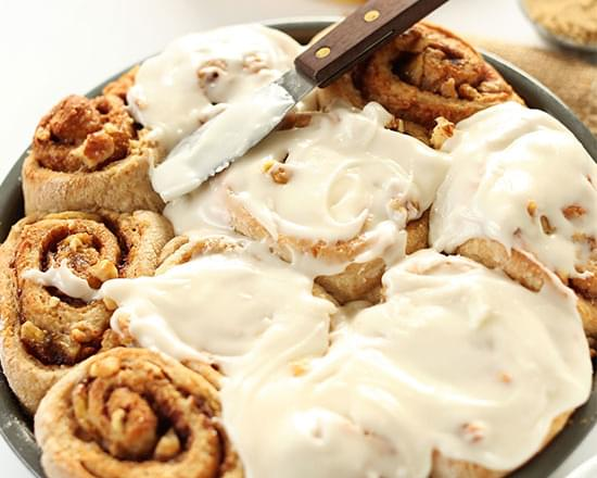 One Bowl Banana Bread Cinnamon Rolls