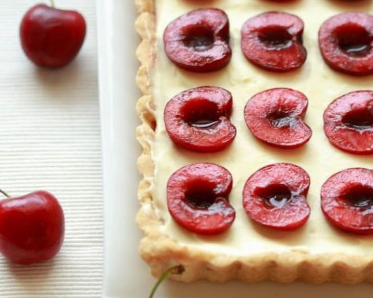 Cherry and Coconut Cream Tart