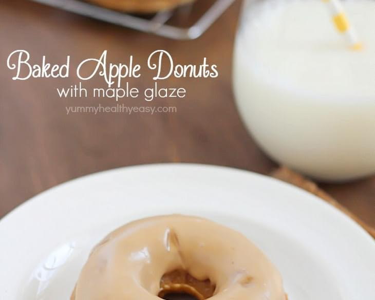 Baked Apple Donuts with Maple Glaze