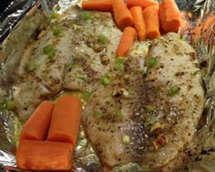 Baked Tilapia with Garlic Butter Mix