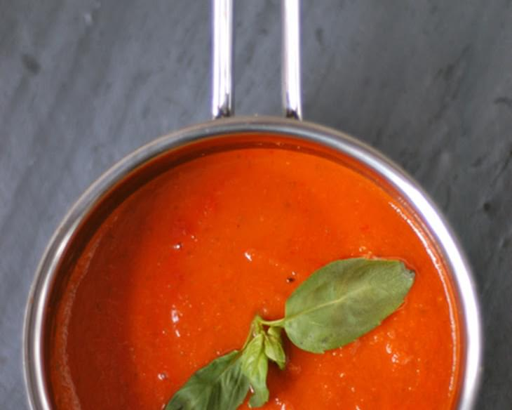 Five Ingredient Tomato-Basil Soup