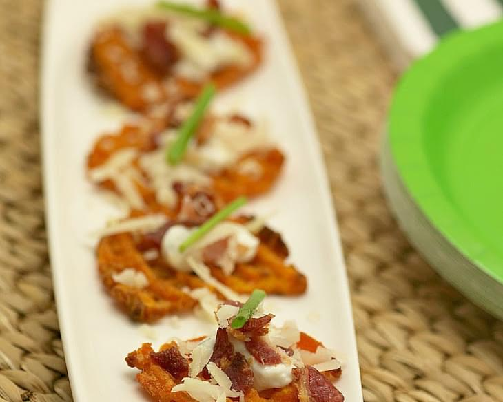 Loaded Sweet Potato Fries Bites #appetizerweek #savorx