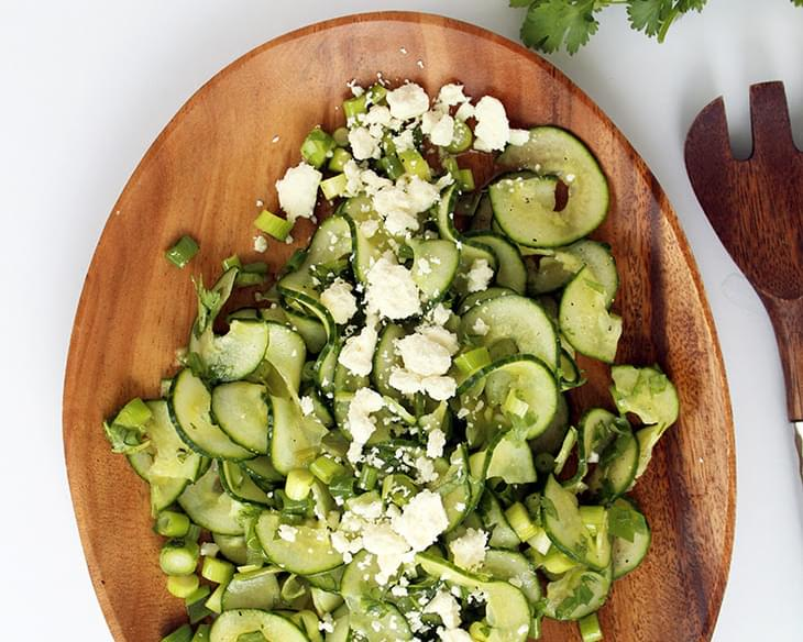 Cucumber, Scallion and Feta Salad with Cilantro-Lime Vinaigrette