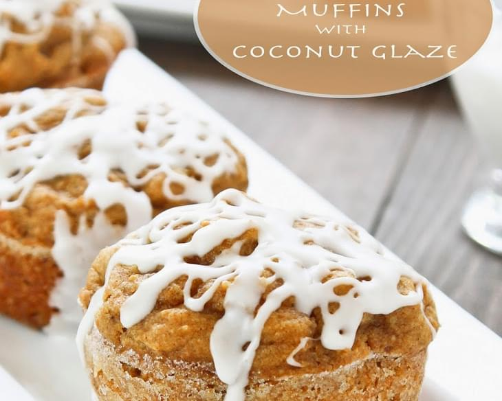 Pumpkin Cupcake Muffins with Coconut Glaze