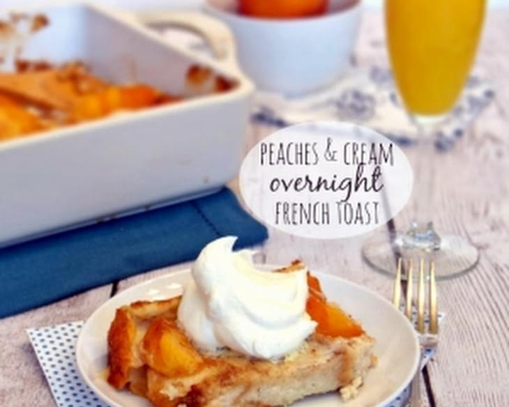 Peaches & Cream Overnight French Toast