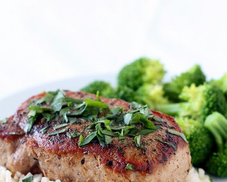 Herb Rubbed Pork Chops