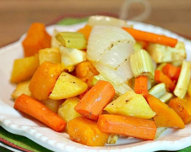 Cider Glazed Roasted Vegetables