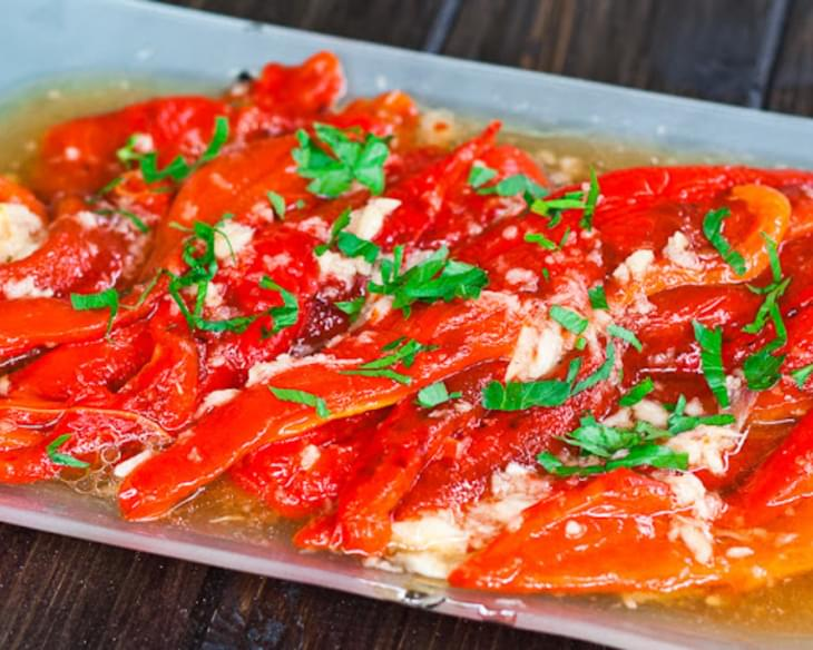 Roasted Red Peppers in Garlic Sauce