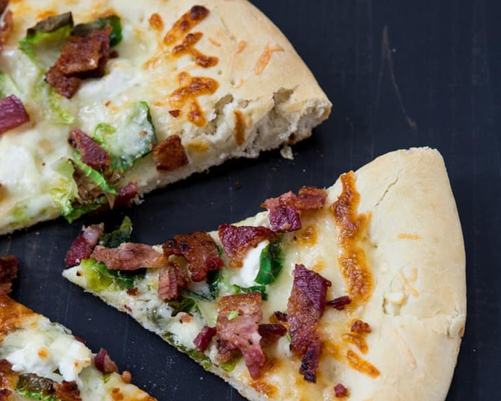 Goat Cheese, Bacon And Brussels Sprout Pizza