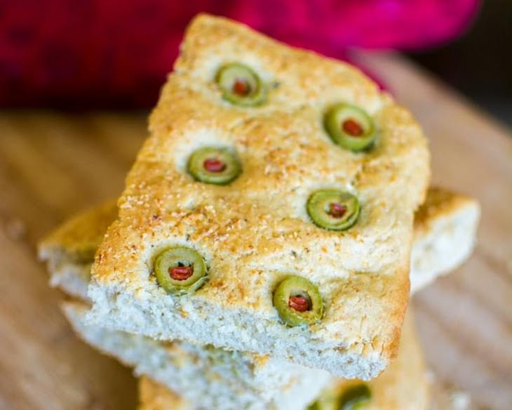 Olive and Jalapeno Focaccia