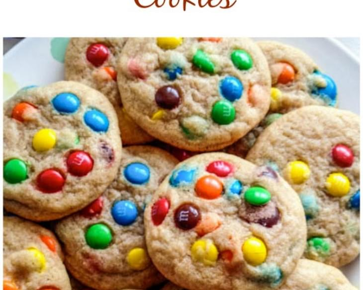 Rainbow M&M Cookies