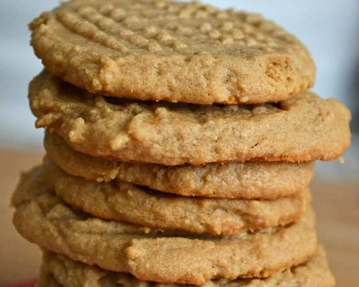 Super Easy Three Ingredient Peanut Butter Cookies #Recipe