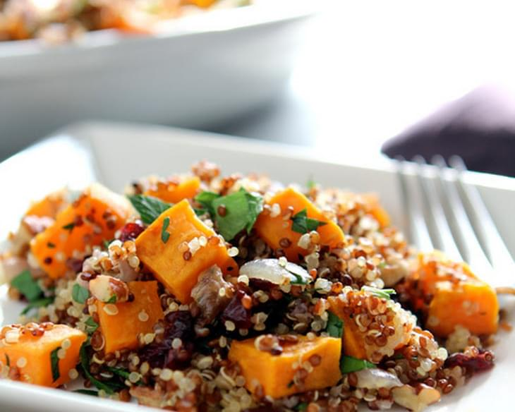 Quinoa, Sweet Potato and dried Cranberry Stuffing
