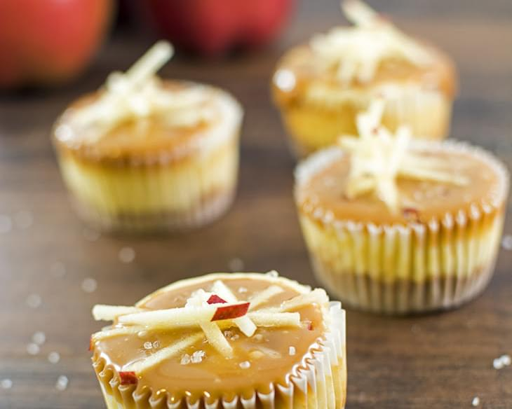 Salted Caramel Apple Mini Cheesecakes