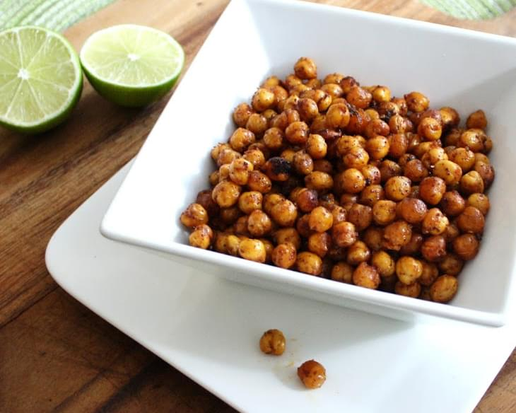 Crispy Roasted Chili Lime Chickpeas
