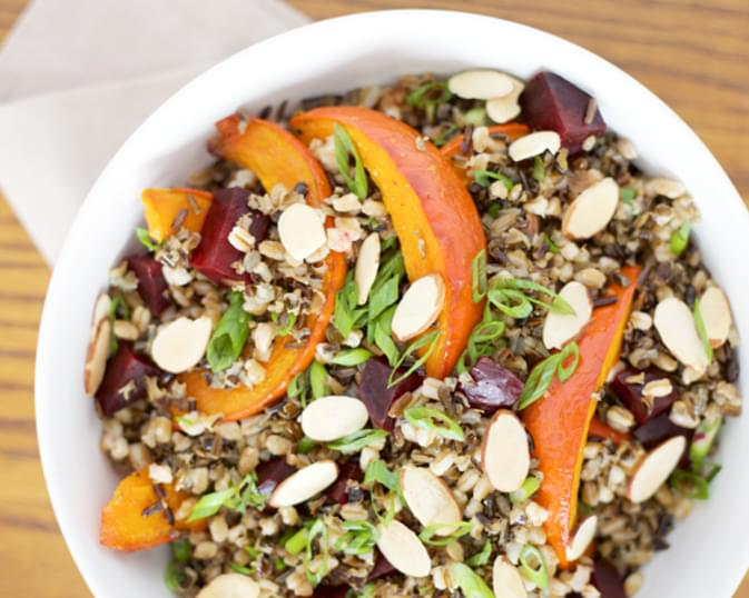 Roasted Red Kuri Squash and Wild Rice Salad