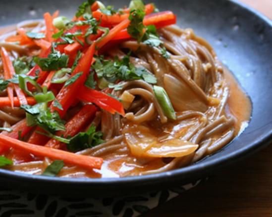 Curried Soba Noodle Soup