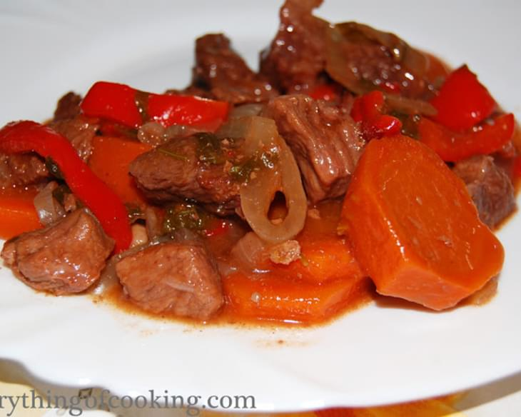 Beef Goulash with Pomegranate Juice