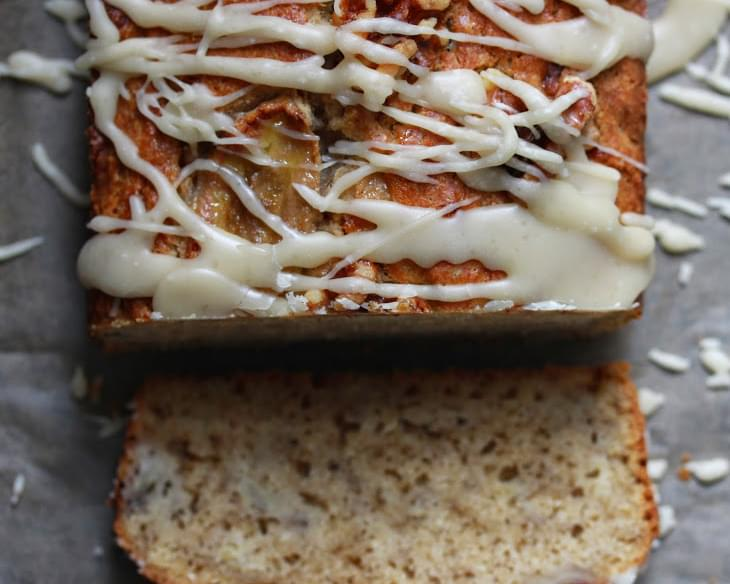 Maple Glazed Maple Banana Bread