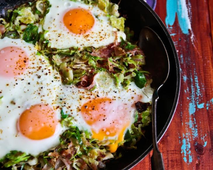 Brussels Sprouts, Potato and Bacon Hash