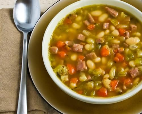 White Bean Soup with Ham and Rosemary