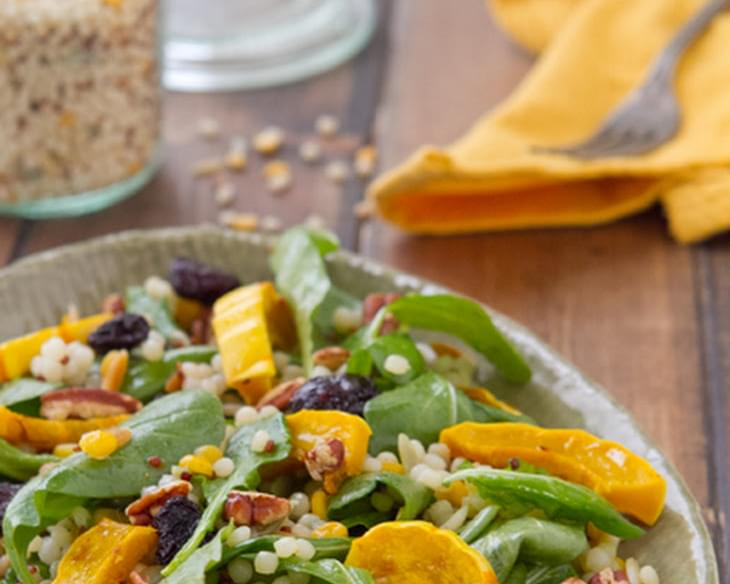 Roasted Delicata Squash Salad with Apple Butter Vinaigrette
