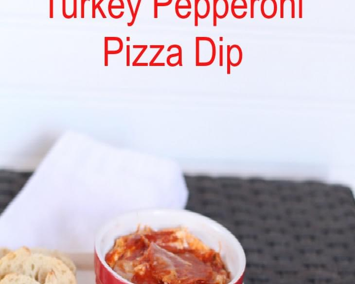 Crockpot Turkey Pepperoni Pizza Dip