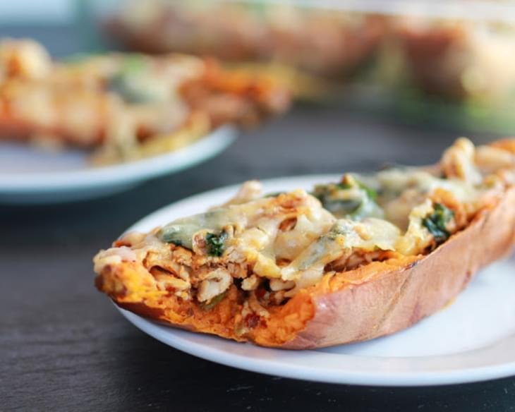 Healthy Chipotle Chicken Sweet Potato Skins Recipe
