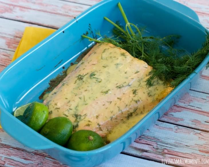 Creamy Dill Baked Salmon