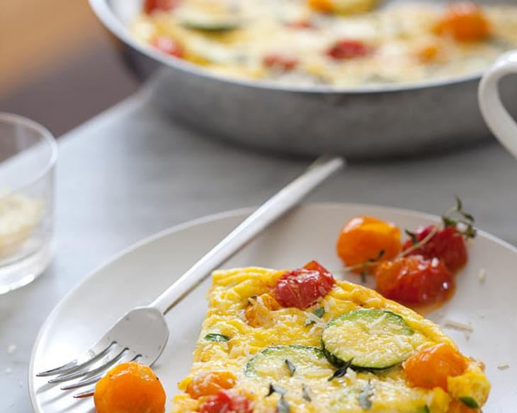 Roasted Tomato and Zucchini Frittata