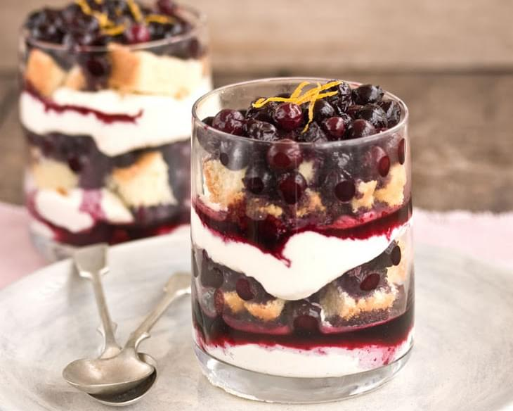 Blueberry & Orange Triffle With Mascarpone Cheese