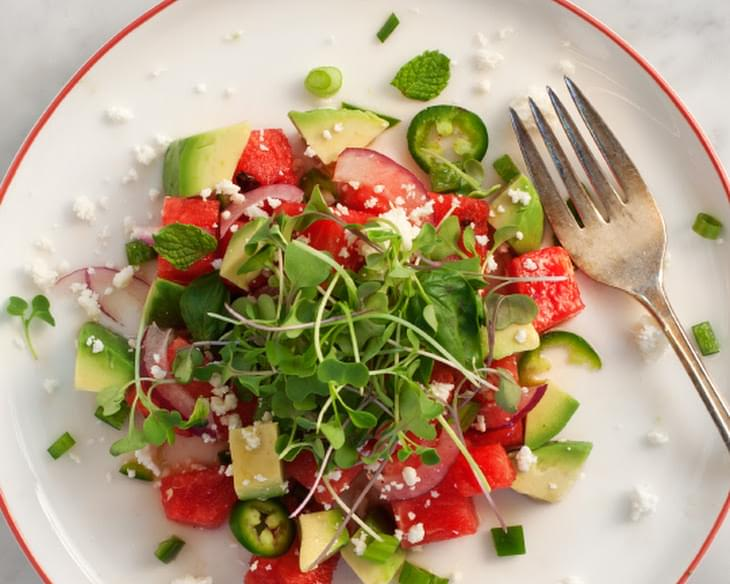 Spicy Watermelon & Avocado Salad