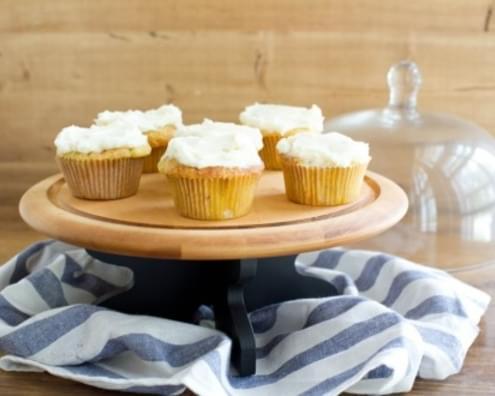 Roasted Peach Cupcake with Vanilla Buttercream Recipe