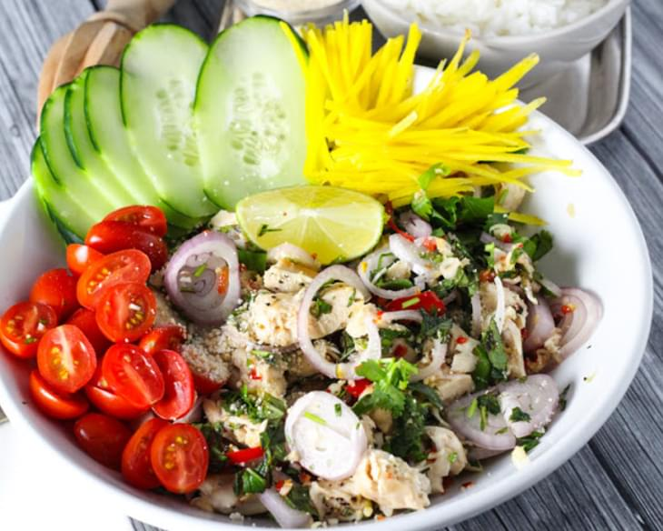 Thai Chicken Salad with Mint & Cilantro