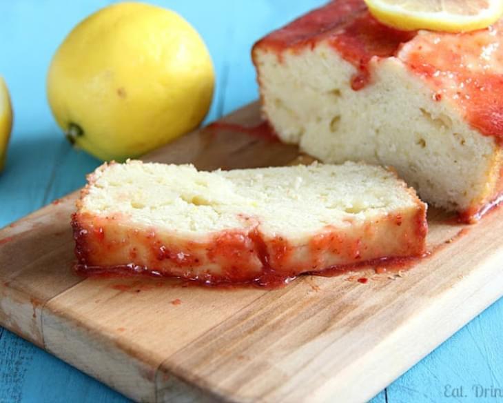 Weight Watchers Recipes Lemon Drizzle Cake: Low-Fat Lemon Pound Cake With Strawberry Glaze Recipe