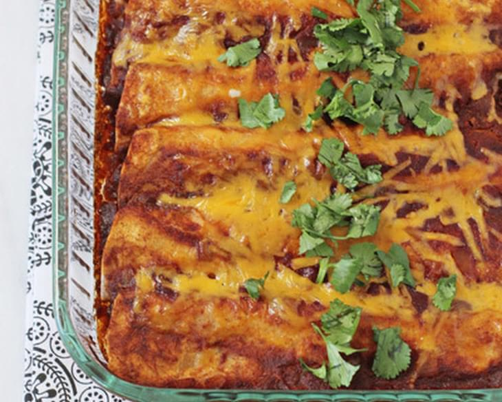 Chicken, Black Bean and Vegetable Enchiladas