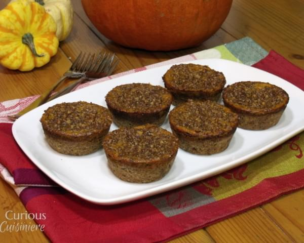 Lightened Up Mini Pumpkin Pie