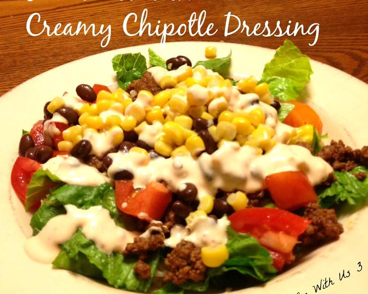 Taco Bowl with Creamy Chipotle Dressing