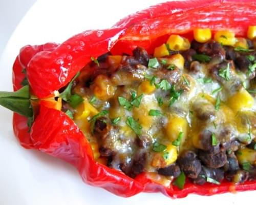 Spicy Black Bean Stuffed Peppers