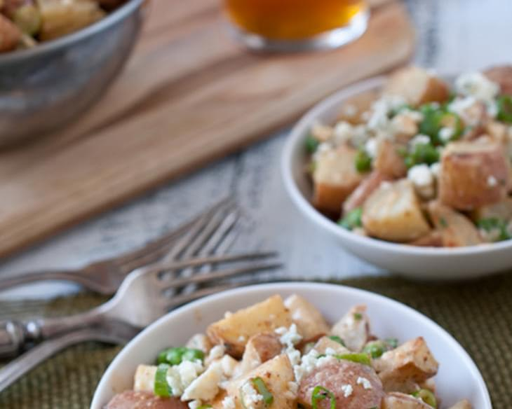 Warm Duck Fat Roasted Potato Salad with IPA Mustard Vinaigrette (with vegetarian option)