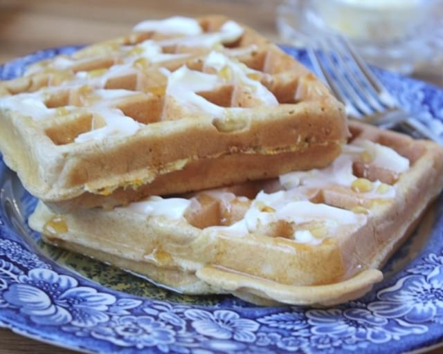 Whole Wheat Zucchini Waffles