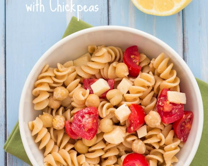 Easy Two Cheese Pasta with Chickpeas