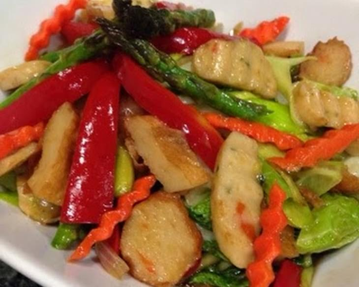 Stir Fry Fish Cakes with Veggies
