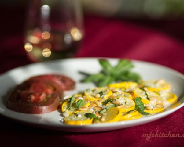 Yellow Squash with Basil and Pinon