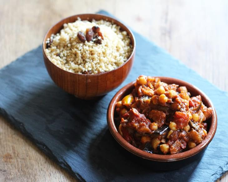 MOROCCAN VEGETABLE & CHICKPEA TAGINE