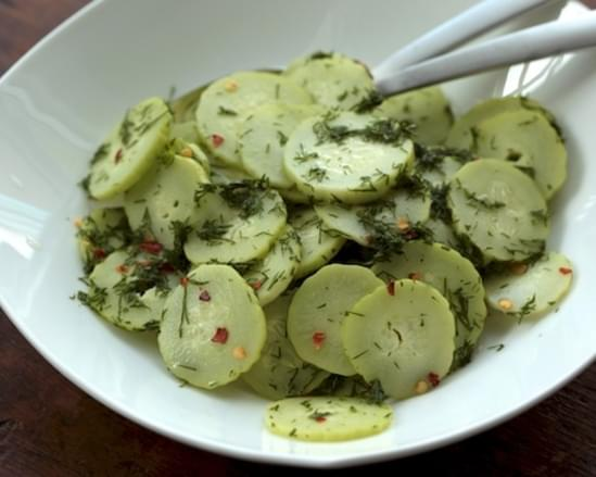 Sweet and Spicy Cucumber Salad with Fresh Dill