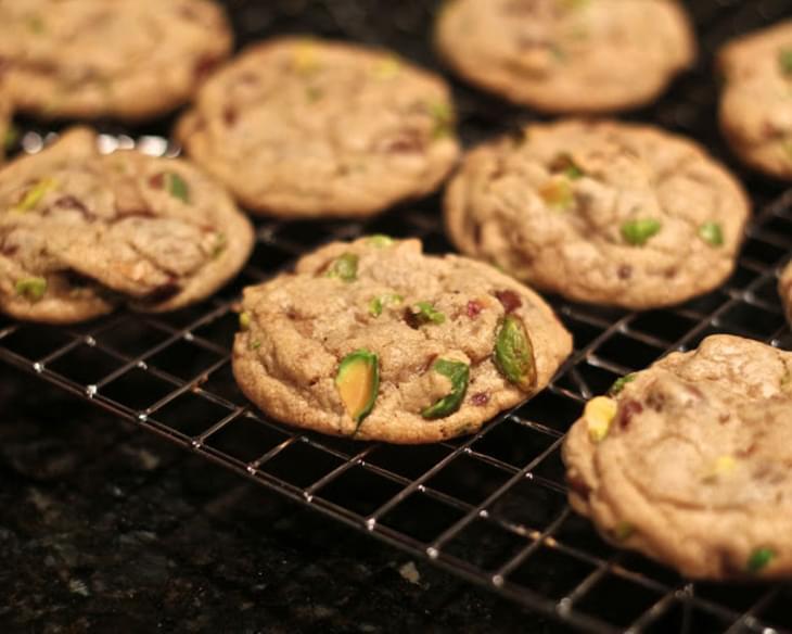 Dark Chocolate, Pistachio and Sea Salt Cookies Recipe