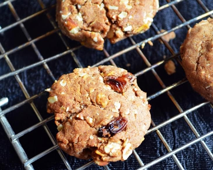 Eggless breakfast cookies recipe,how to make breakfast cookies | Eggless baking recipes