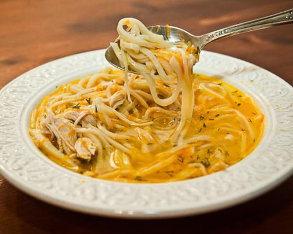 Chicken Soup with Homemade Noodles