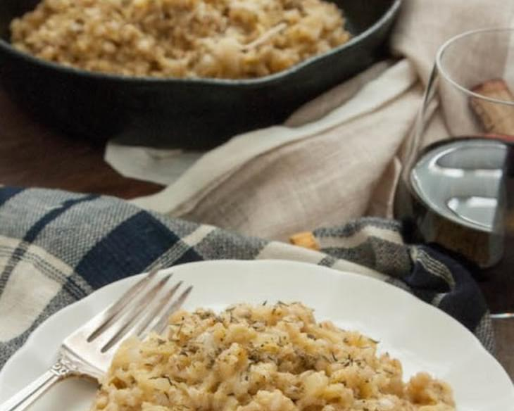 Parsnip and Barley Risotto